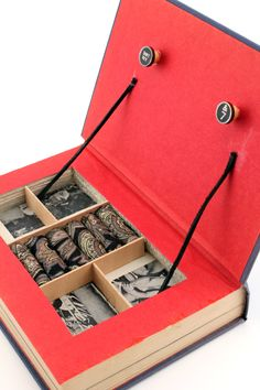 """Vintage Book Jewelry Box. Unique, Recycled. """"Bring On The Empty Horses."""" Wooden Typewriter Keys. Handmade by Kiss Every Comma on Etsy.. $40.00, via Etsy."""