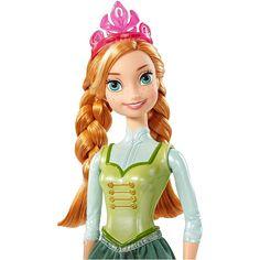 Boneca Anna, irmã da Rainha do Gelo Elsa, do filme da Disney: Frozen - O Reinado do Gelo