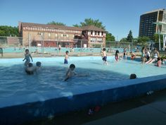 Swimming at the Natatorium! Moose Jaw, SK. This was my childhood.