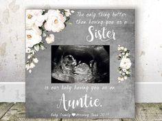 Pregnancy Reveal to Aunt Pregnancy Announcement frame Ultrasound Frame Sonogram Frame Aunt Gift Auntie Gift Baby reveal to Sister Gift Baby - geschenk Grandparent Pregnancy Announcement, It's A Boy Announcement, Pregnancy Announcements, Auntie Gifts, Sister Gifts, Ultrasound Frame, Baby Gifts, Sisters, Just For You