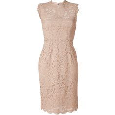 VALENTINO Nude Lace Dress (34.225 ARS) ❤ liked on Polyvore featuring dresses, vestidos, valentino, short dresses, sleeveless dress, short pink dress, lace dress, pink cocktail dress and short lace cocktail dress