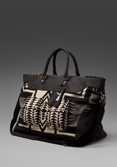 Bag in leather and wool, Pendleton the Portland Collection, RevolveClothing.com, $396