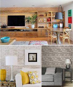 Você com certeza já deve ter tido vontade de ter uma parede de tijolinhos em casa. Que tal conferir essa seleção, que tem até passo a passo?