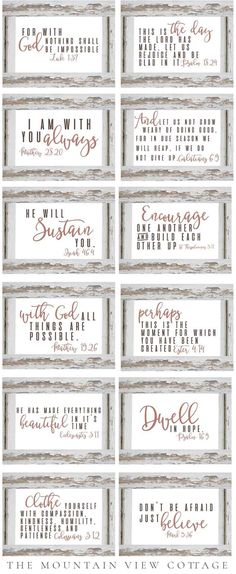 best farmhouse printables collection by carft-mart #freeprintables bible verse and free planner - modern farmhouse