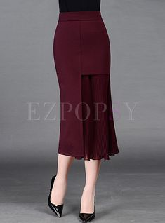 Shop for high quality Skinny Asymmetric Patch Solid Color Skirt online at cheap prices and discover fashion at Ezpopsy.com