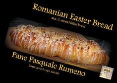 Sweet and That's it: Romanian Easter Bread - Pane Pasquale Rumeno Bread Baking, Pork, Yummy Food, Easter, Sweet, Breads, Recipes, Baking, Kale Stir Fry