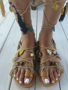 Bohemian sandals Apollonia' Greek leather sandals