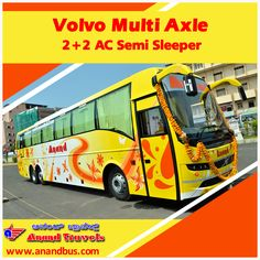 """Make your travel experience memorable with Anand Travel's multi axle volvo AC sleeper bus. Book online tickets from Mumbai to the """"Rome of the East"""" Mangalore (via Pune, Kolhapur , Bhatkal, Kundapur, Udupi, Mulki) and get 5% of on all bus tickets. http://www.anandbus.com/e-bookings/97/Mumbai/94/Mangalore/ ✔Multi Axle Volvo ✔ AC Semi Sleeper #Mumbai #Pune #Kolhapur #Bhatkal #Gurupura #Udupi #Mulki #Kundapura #Volvo #Bus"""