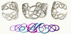 Custom Sterling Silver Cuff Bracelet with Initials CML - http://www.custom-bracelets.com/mono.php