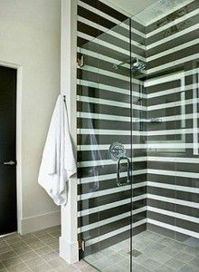 horizontal shower tiles