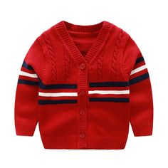 Baby sweater made of cotton Red baby cardigan made of cotton, baby cardigan, baby cardigan, baby cardigan, newborn cardiga Baby Cardigan, Baby Boy Sweater, Toddler Sweater, Baby Pullover, Striped Cardigan, Crochet Cardigan, Cool Baby Boy Clothes, Crochet Baby Clothes Boy, Newborn Boy Clothes