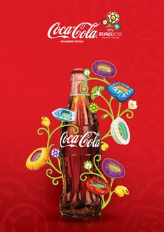 Coca-Cola & EURO 2012 by Evgen Semenenko, via Behance
