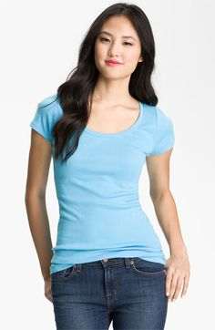 Caslon® Scoop Neck Tee | Nordstrom 22 For layering over Vaslon long sleeves