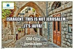 Isragent confond Jerusalem et Jaffa