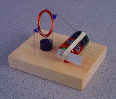 Build a simple electric motor, a good Science fair project