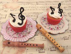 Juliart: Cupcakes musicales para el Día de la Música con decoración de chocolate