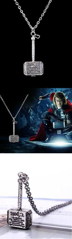 Avengers Thor Badge Hammer Necklace! Click The Image To Buy It Now or Tag Someone You Want To Buy This For.  #Avengers