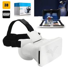 bfbaff0aa36 FiiT VR 2S Head Mount 3 D Cardboard Virtual Reality Goggles VR Headset  Glasses Phone 3D Video Game Private Theater+Controller