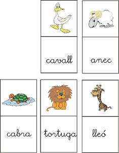 DIRIGIENDO MANITAS: Dominó Animals Catalan Language, Valencia, Vocabulary, Homeschool, Lettering, Education, Blog, Diy, Preschool
