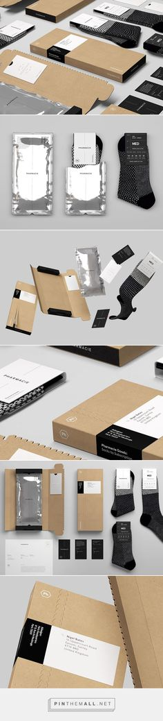 Pharmacie Goods on Behance via Socio Design curated by Packaging Diva PD.  More great sock packaging.