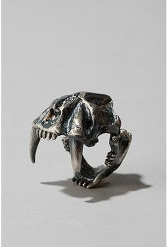 UrbanOutfitters.com > OBEY Saber Skull Ring  How cool is this? The only way to make it better would be to hinge it so you could make it snarl at people.