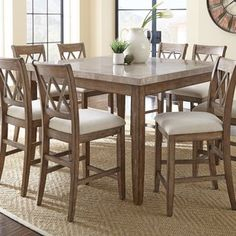 Tall Square Table for 8