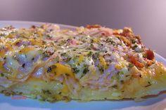 Pizza con sustituo huevo y mandioca I