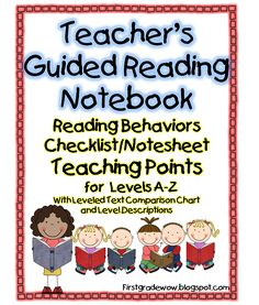 AWESOME checklist for each reading level