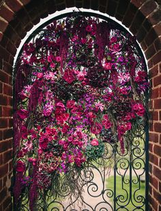 love this floral covered gate