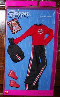 1999 Barbie Skipper Fashion Avenue Sporting Stripes Fashion