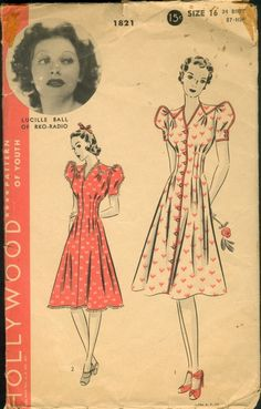 Hollywood patterns - Lucille Ball - 1930-1940s