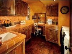 rustic log home laundry room ideas | Rustic Laundry Room - do gray instead of orange