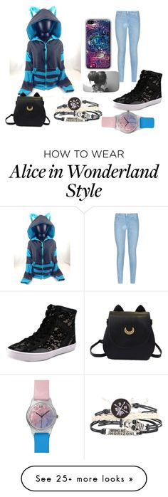 """Blue kitty"" by olivia-bishop on Polyvore featuring 7 For All Mankind, Rebecca Minkoff, May28th, women's clothing, women's fashion, women, female, woman, misses and juniors"