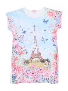 Older Girls' Eiffel Tower Burnout T Shirt | Peacocks