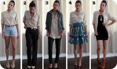 5 ways to wear it:  Equipment blouse silk button-down