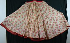 cotton,muslin skirt 1960′s very pretty flowers with tassel tie at waist band. length 80cm http://worldbasket.co.uk/product-category/antique-and-vintage-textiles/