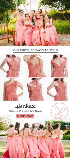 The perfect bridesmaid dress: pick a color & then let your girls choose their own individual styles! The only bridesmaid dress that you can wear again, for real! For every body type, style preference or occasion, sizes 0 to 24.