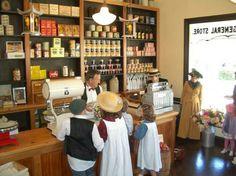 Ferrymead Heritage Park Historic Village, New Zealand -- Inside the General Store General Store, Vignettes, Facades, Dollhouses, Miniatures, Museum, Park, Places, Image