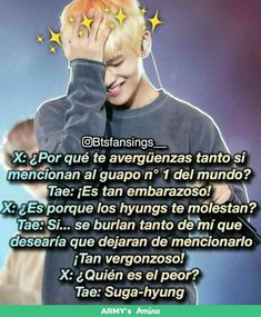 Aww tae tae is shy❤ Bts Taehyung, Bts Bangtan Boy, Jimin, K Pop, Selena Gomez, Bts Facts, Vkook, Blackpink Memes, Rap Lines