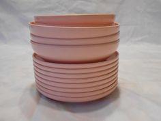 Vintage peach melamine dinnreware,kitchenware