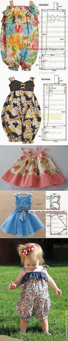 La ropa hermosa y práctica para las pequeñas princesas — la Costura // Айгуль Мустафина Little Dresses, Little Girl Dresses, Sewing For Kids, Baby Sewing, Sewing Clothes, Diy Clothes, Clothing Patterns, Dress Patterns, Doll Clothes Patterns