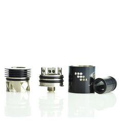 Original Design Black Mutation X RDA V2 Rebuildable Atomizer by Indulgence #vape #vaping Rda Atomizer, Starter Kit, Vape, Iron Lung, Mugs, Tableware, Tanks, Cloud, Smoke