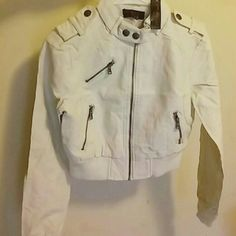 Motorcycle jacket Motorcycle-ish jacket brand new comes with original tags never worn color is a off white cute and stylish New Look Jackets & Coats