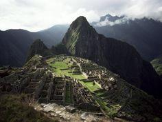 Inca Site, Machu Picchu, Unesco World Heritage Site, Peru, South America  by Rob Cousins