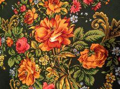 Shawl wool fringe silk. Russia Pavlovo Posad by RussiaVintage