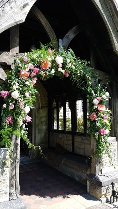 Arch at church Florist in the Forest