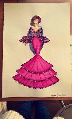 Maniquí - traje sevillana - Paloma Pastor Gomis