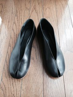 peep-toe flats by céline