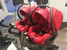 Maxi-Cosi Dana For2 | Top Baby Products for 2017 from the ABC Kids Expo. 25| The Dana For2 Stroller fromMaxi-Cosi.  Parents of twins will rejoice at this one as it fits two Maxi-Cosi infant car seats side by side. It maneuvers easily through standard doorways, and the seat cushions are machine washable and dryer safe.Available now fromAmazon.