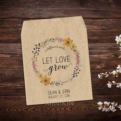 Wildflower Seed Packets Seed Favors Wedding Seed by MinikinGifts